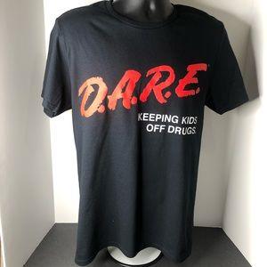 DARE Keeping Kids Off Drugs Black/Red Tee Tshirt